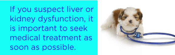 If you suspect liver or kidney dysfunction