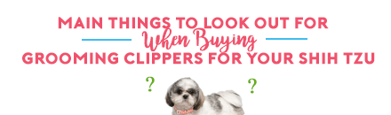 main things to look out for when buying grooming clippers for your shih tzu
